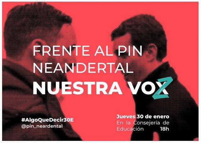 """El colectivo de estudiantes 'Algo que decir' convoca concentraciones este jueves en Murcia contra el """"Pin Neandertal"""" de Vox"""