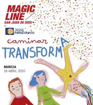 Murcia demuestra su solidaridad con la caminata 'Magic Line'