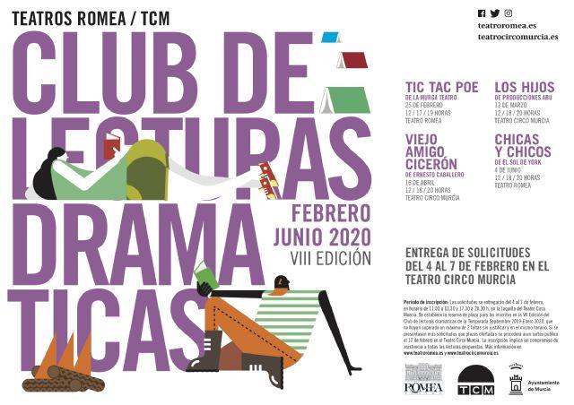 El Teatro Romea y el TCM arrancan con la octava edición del Club de Lecturas Dramáticas