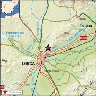 Lorca registra un terremoto de magnitud 2,3 sin daños