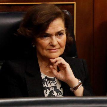La vicepresidenta Calvo ingresada: si cae Sánchez, Iglesias sería presidente en funciones