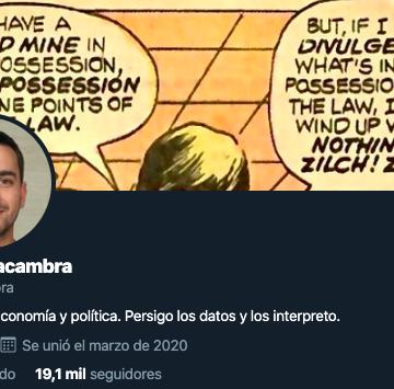 ¿Quién es Miguel Lacambra? ¿Quién está detrás del perfil @mglacambra? el hombre más buscado por la derecha
