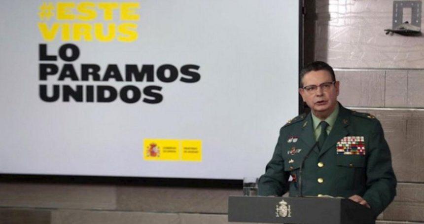 El Director adjunto de la Guardia Civil, que comparece desde Moncloa, da positivo en Covid-19