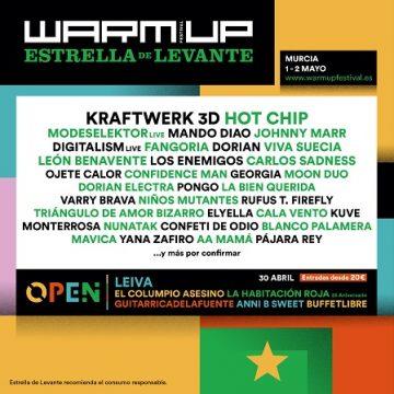 WARM UP Estrella Levante se celebrará en octubre