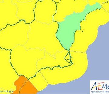 Alerta amarilla por tormentas en el Altiplano, el Noroeste y la Vega del Segura