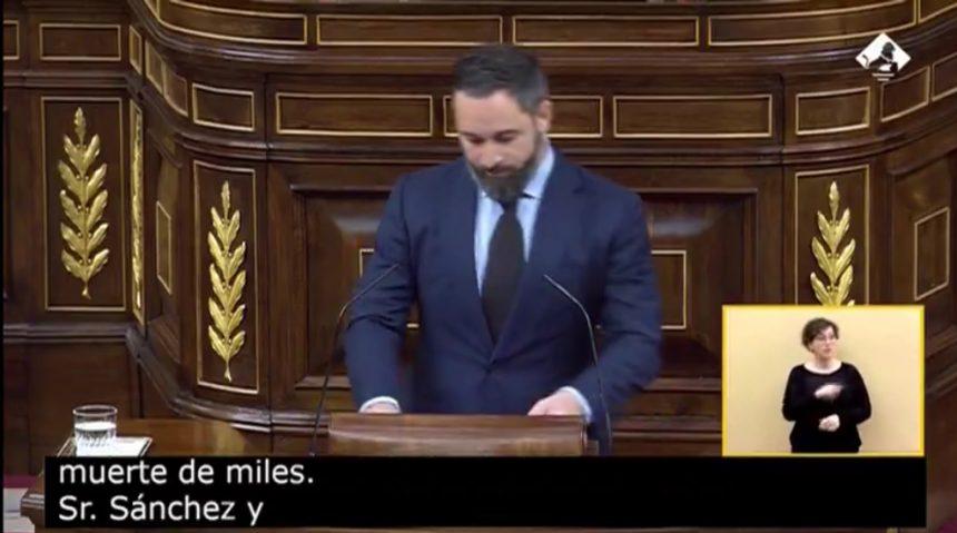 """Santiago Abascal: """"¿Hay que tener carnet de comunista para poder despedir a nuestros familiares muertos?"""""""