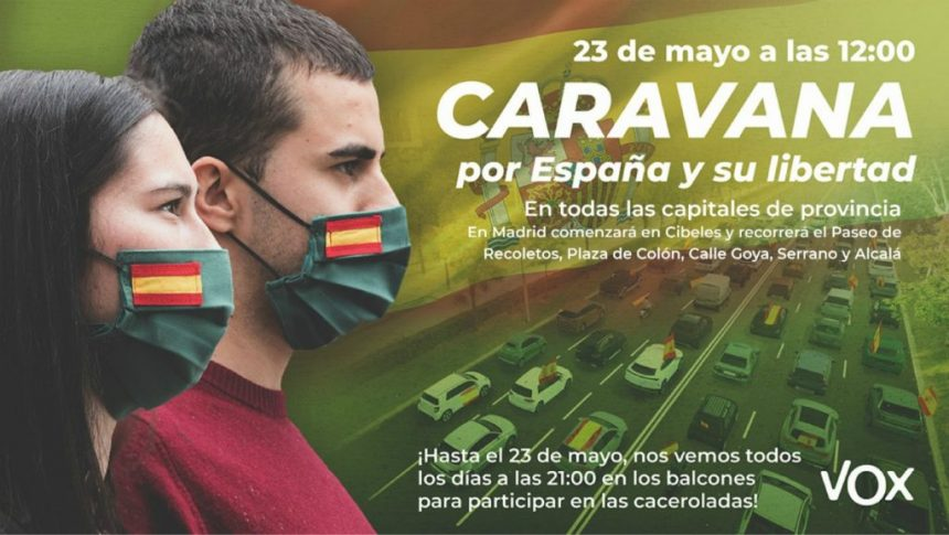 La Caravana de Vox ha sido convocada el día 23 a nivel nacional en contra de la gestión del Gobierno