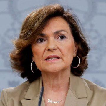 Carmen Calvo ha sido la encargada de negociar la salida de Juan Carlos I