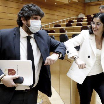 """López Miras teme un trato """"injusto"""" en el reparto de los fondos europeos porque con Sánchez """"Murcia siempre sale mal"""""""