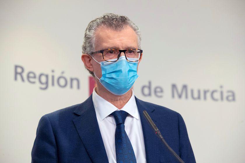 El consejero de Salud, Juan José Pedreño.