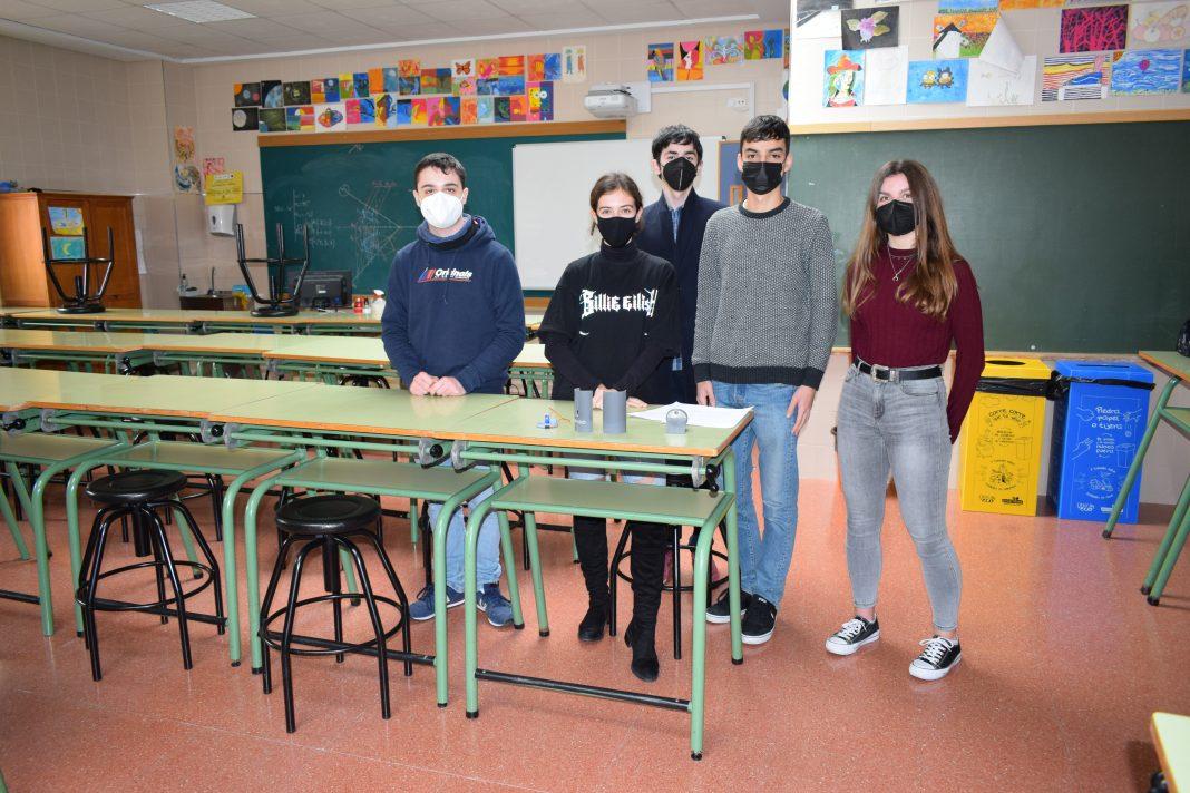 Integrantes del grupo Perseo Team, alumnos del colegio Franciscanos La Inmaculada Cartagena
