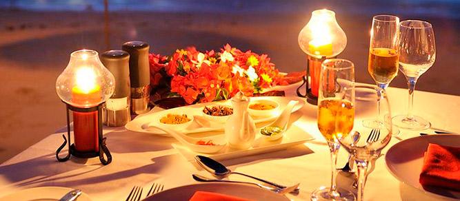 Ideas para la decoración de una mesa romántica para cena