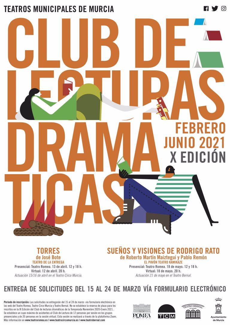 Los teatros municipales de Murcia organizan la décima edición de su Club de Lecturas Dramáticas