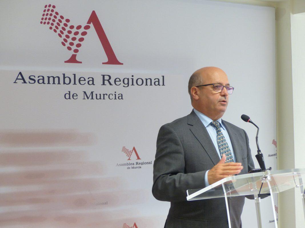 Luis Francisco Fernández Martínez, exdiputado de Ciudadanos durante una rueda de prensa en la Asamblea