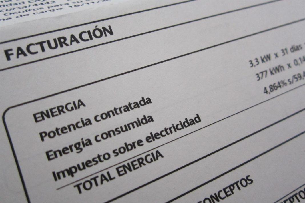 Imagen de recurso de una factura de electricidad.