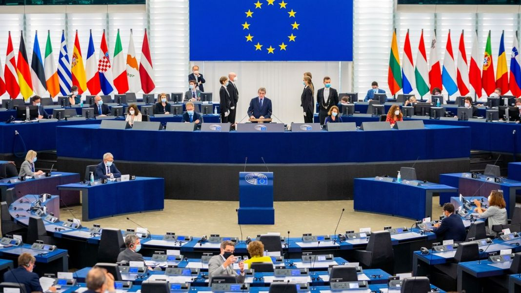 Sesión plenaria del Parlamento Europeo en Estrasburgo, el 7 de junio de 2021.