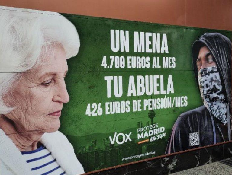 La Justicia avala el cartel de Vox por ser un mensaje electoral sin importar la veracidad de las cifras
