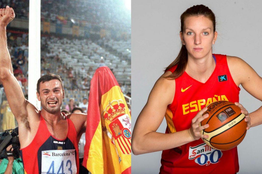 Los deportistas olímpicos murcianos Antonio Peñalver y Laura Gil.