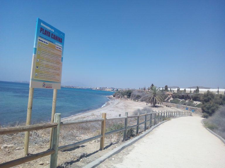 Las playas para perros que puedes visitar en la Región de Murcia