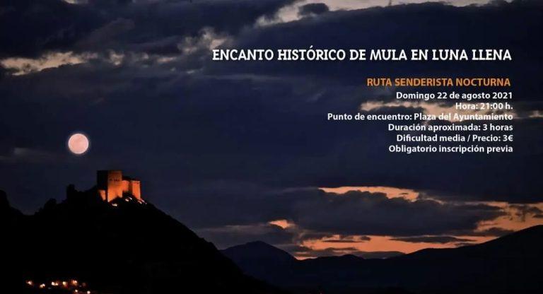 Mula organiza una ruta nocturna para conocer el encanto de la localidad con luna llena