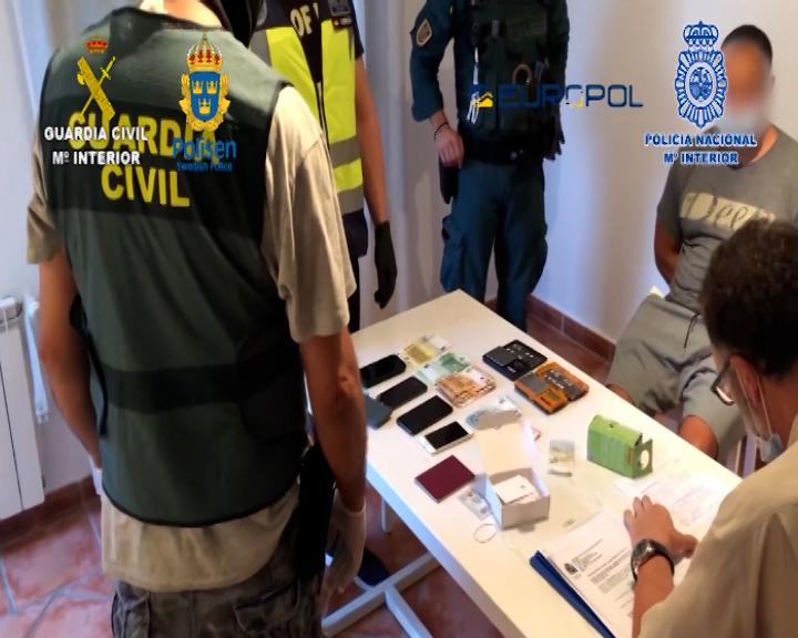 Detención durante un operativo contra el narcotráfico entre España y Suecia.