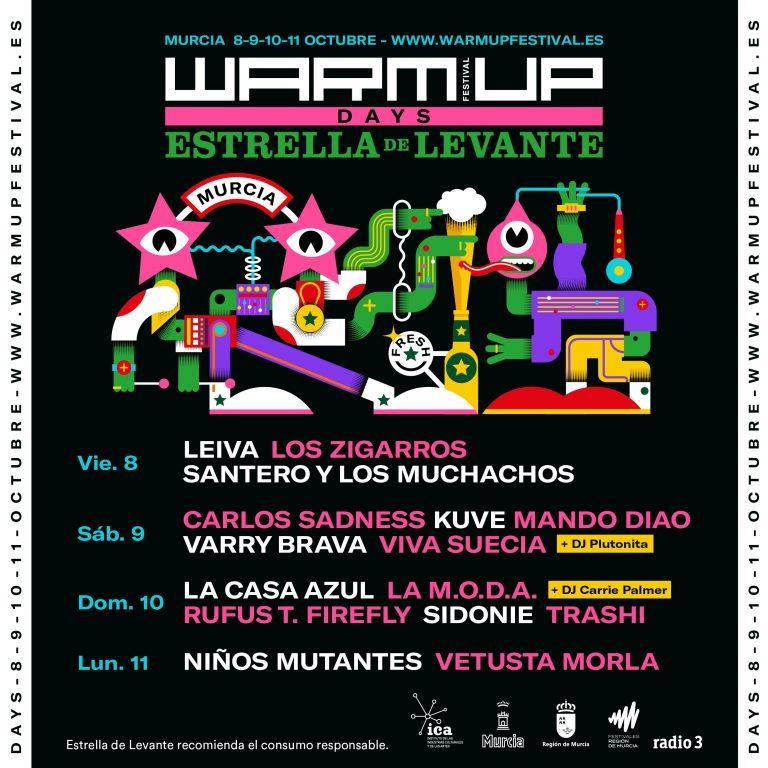 Arranca este martes la venta de entradas del festival 'Warm Up Days' que acogerá La Fica del 8 al 11 de octubre